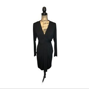 BCBGMAXARIA black faux wrap dress size sma…